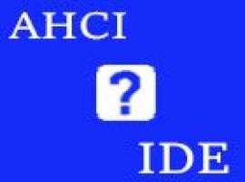Как поменять AHCI на IDE в BIOS