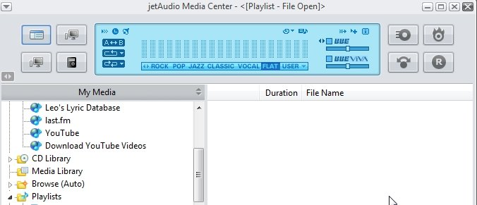 Интерфейс jetAudio Media Center