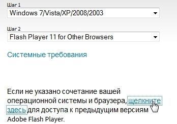 Установка другой версии Adobe Flash Player