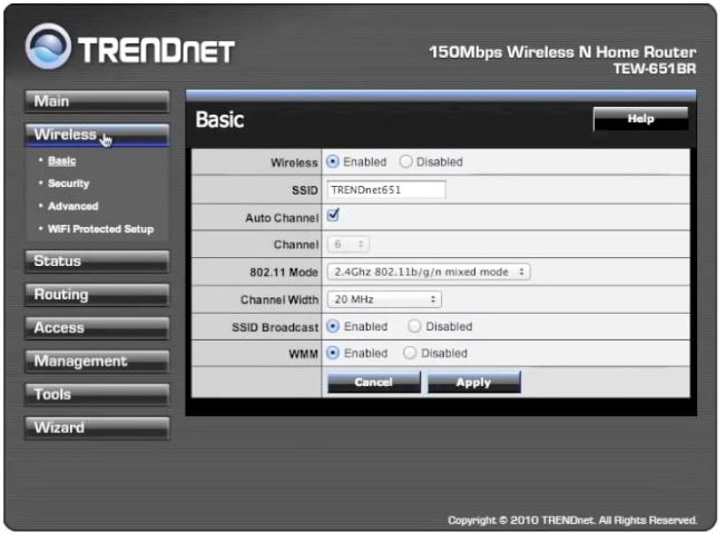 Trendnet Wireless Router Tutorial. (2)