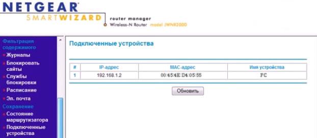 закрепление ip адреса Wi-Fi роутера NETGEAR JWNR2000