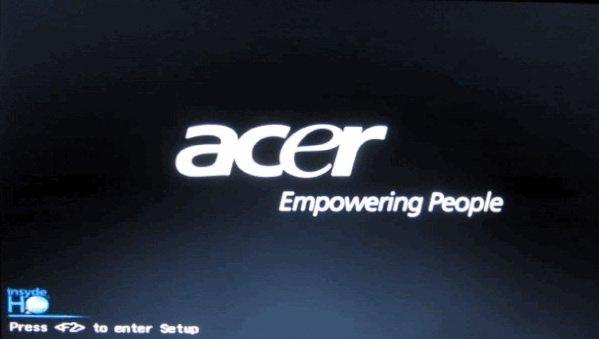 Вход в настройки Bios - Acer