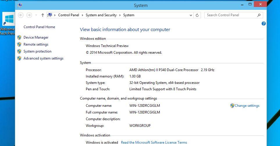 10 - свойства компьютера Windows 10