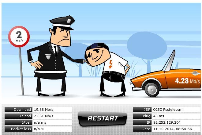 Проверка скорости интернета через VoIP