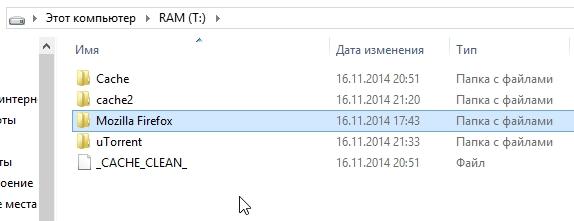 папка теперь на диске RAM (T_)