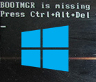Ошибка «BOOTMGR is missing press cntrl+alt+del» с черным экраном при загрузке Windows. Что делать?