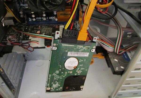 4-подключаем диск hdd
