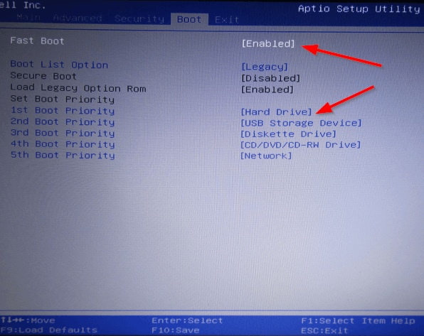 Рис. 1. BIOS - Очередь загрузки