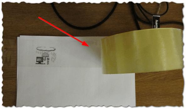 Поверхность картинки заклеена скотчем - Как сделать наклейку