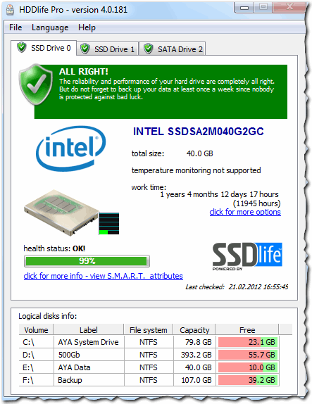 Рис. 2. Intel SSD 40 GB