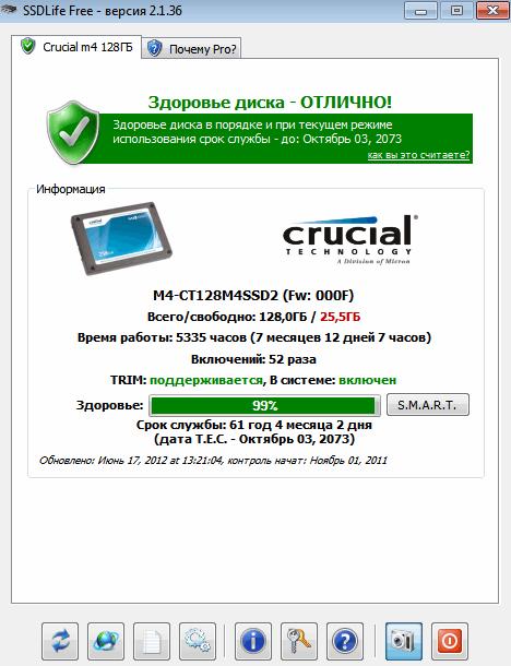 Рис. 1. Crucial m4 128ГБ