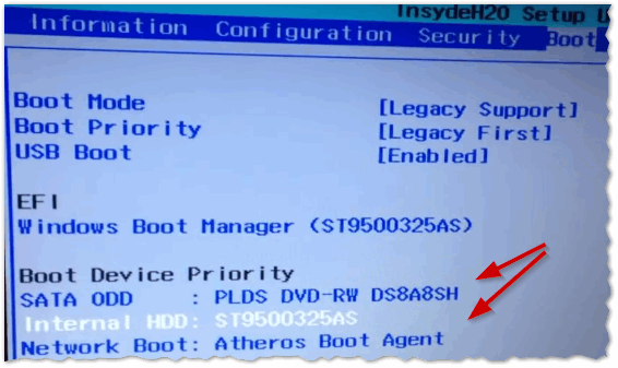 Рис. 4. установка Windws 7- настройка BIOS на Lenovo G480