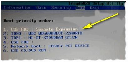 Рис. 3. Определился ли жесткий диск в BIOS? На данном скрине - все в порядке ()