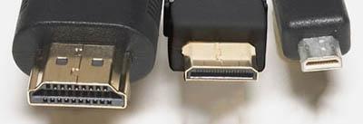 Standart, Mini и Micro HDMI