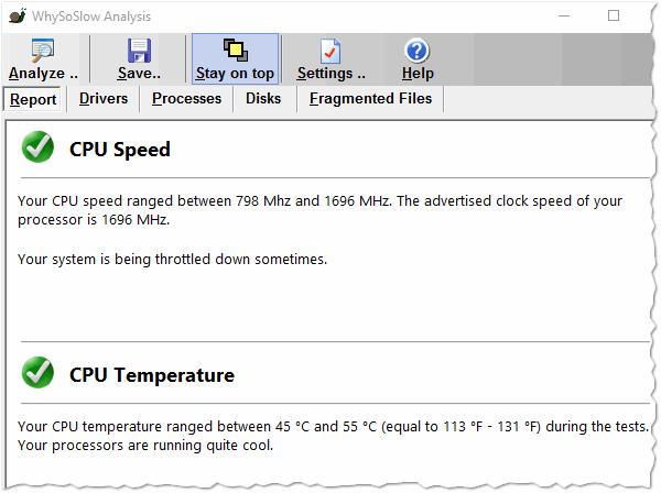 Рис. 3. Рапорт об анализировании компьютера (WhySoSlow Analysis)