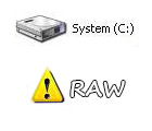 RAW-file-system