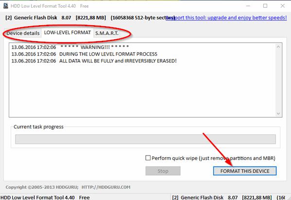 инструкция hdd low level format tool