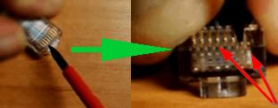 1-обжатие отверткой