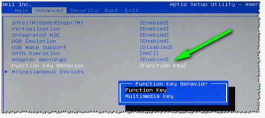 Функциональные кнопки - ноутбук DELL