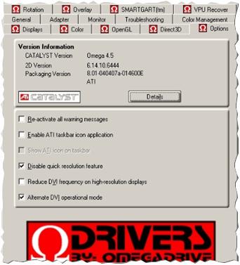Omega Drivers