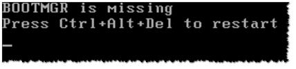 Bootmgr is missing