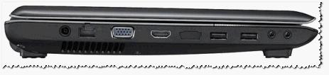 Рис. 1. Вид сбоку - ноутбук Samsung R440