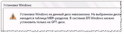 Ошибка с MBR при установке Windows