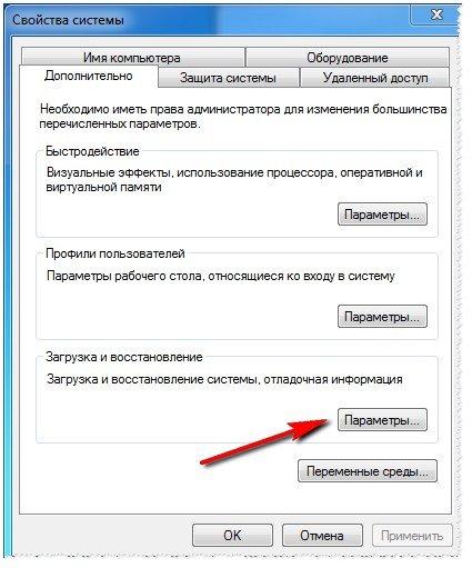 Windows 7 - параметры загрузки