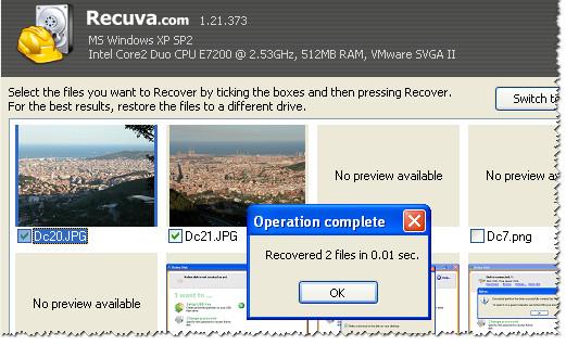 Программа Recuva для восстановления файлов на флешке