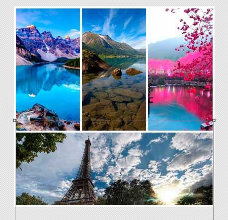 Коллаж из фотографий с изображением пейзажей