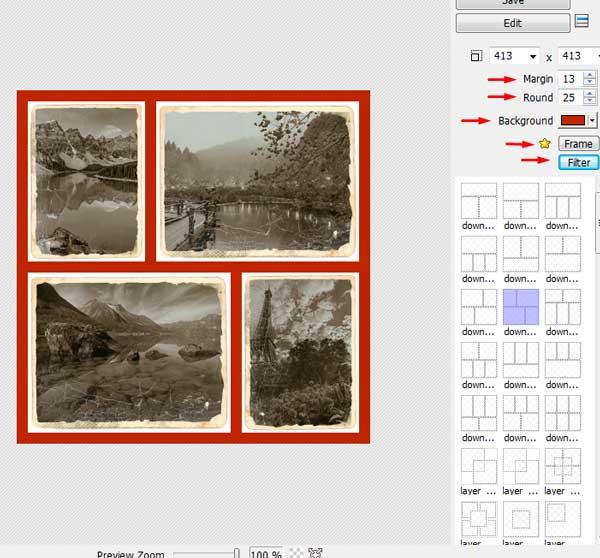 Создание коллажа в программе Photoscape