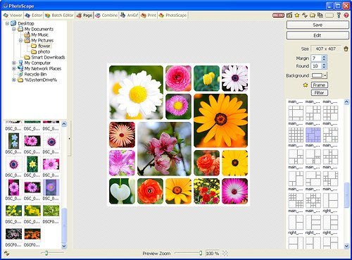 Интерфейс программы Photoscape