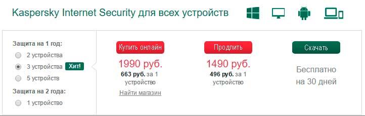 Цены на Internet Security 2017