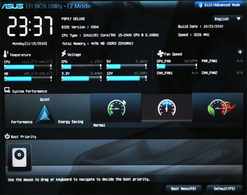 Различия во внешнем виде BIOS и UEFI