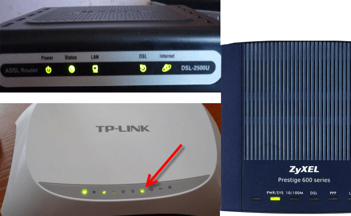 Примеры работающих роутеров ZyXEL, TP-LINK, модемов DSL