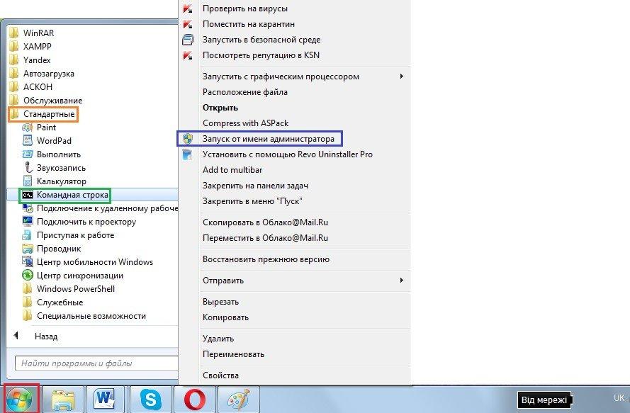 Запуск cmd.exe от имени администратора