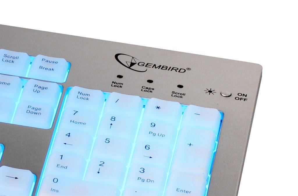 Клавиатура Gembird с подсветкой