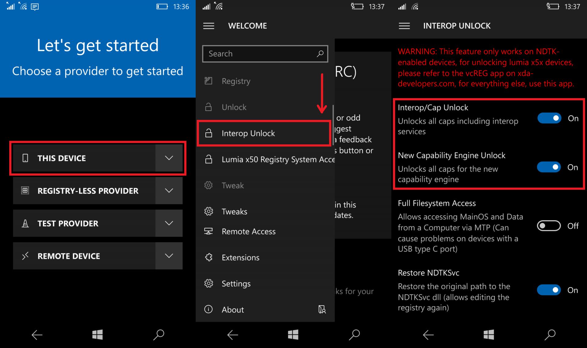 Nokia Lumia Registry Editor
