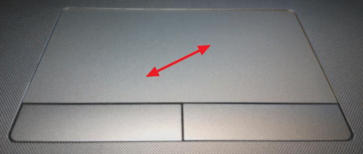 Изменение размера с помощью тачпада