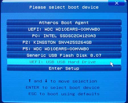 Порядок загрузки в BIOS