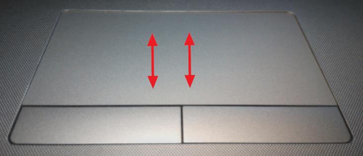 Прокрутка страницы с помощью тачпада