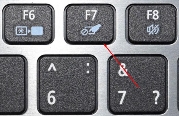 Включение и отключение тачпада через клавишу F7