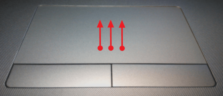Вызов списка приложений с помощью тачпада