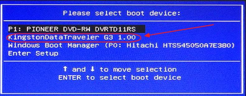 Панель Boot-меню компьютеров Asus