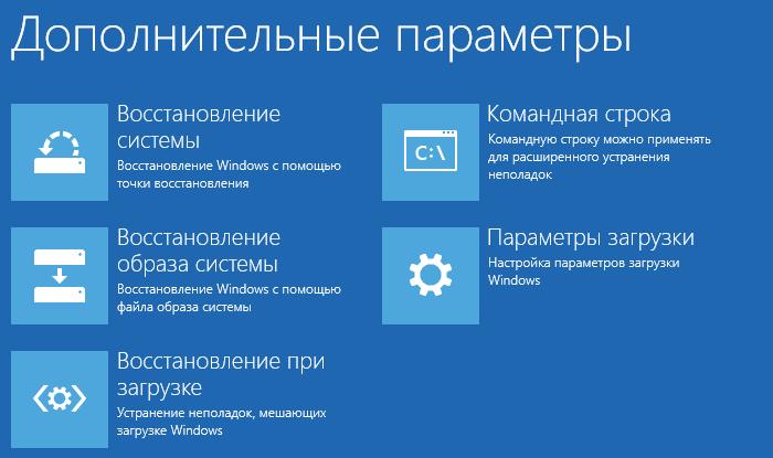 Окно «Дополнительные параметры»