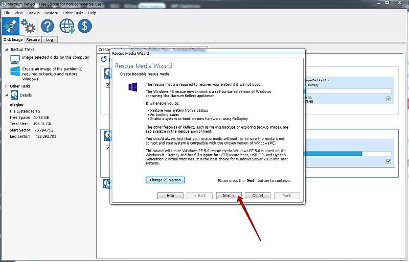 Подтверждение работы Macrium с Windows PE 5.0