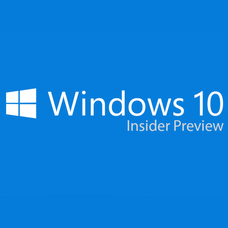 Заставка Windows 10 Insider Preview