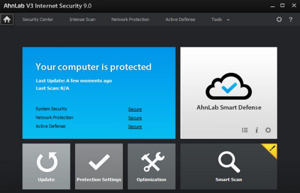 AhnLab V3 Internet Security 9.0.