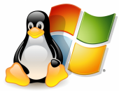 Логотипы Windows и Linux