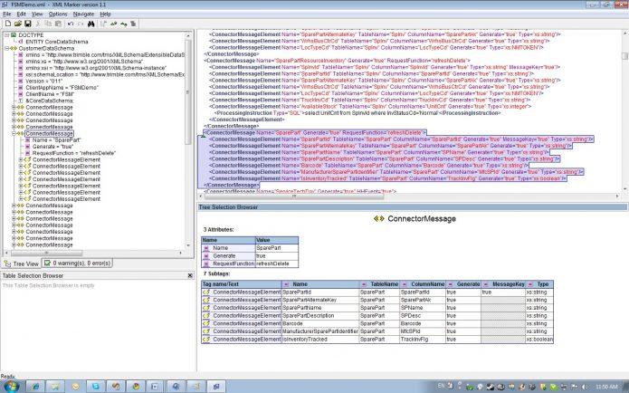 Рабочее окно XML Maker